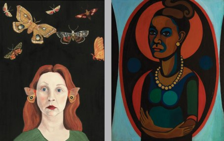 Left: Audrey Niffenegger, Moths of the New World, 2005; Courtesy of the Artist; Right: Faith Ringgold, Early Works #25: Self-Portrait, 1965; (c) Faith Ringgold, Photo Jim Frank; from http://womeninthearts.files.wordpress.com/2013/09/ring_niff_s-ps.jpg