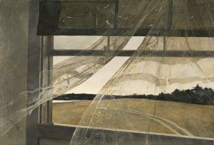 Andrew Wyeth, Wind from the Sea, 1947, tempera on hardboard, National Gallery of Art, Gift of Charles H. Morgan, 2009. © Andrew Wyeth