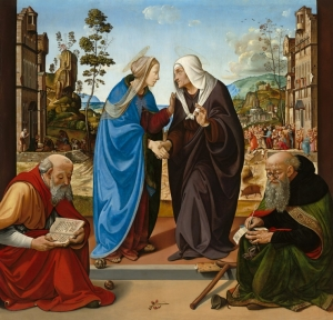 The Visitation with Saints Nicholas and Anthony Abbot c.1489 by Piero di Cosimo