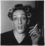 Diane Arbus - A Young Man in Curlers at Home on West 20th Street, NYC - 1966