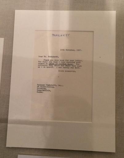 Letter from J.R.R. Tolkien to Terry Pratchett, November 24, 1967