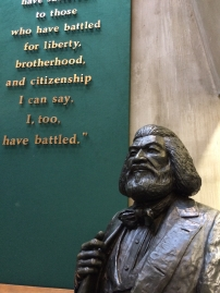 Frederick Douglass Statuary and Quote