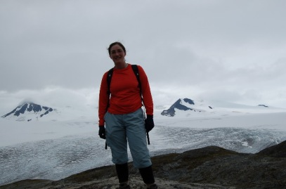 Andrea and Nunataks in Alaska