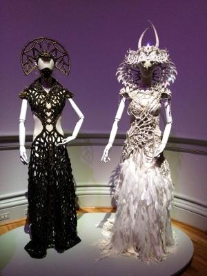 Nagana Brass Gown, 2014 - Gelareh Alam; The Crown of Nagini, 2018 - Caley Johnson