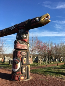 Lummi Poles in remembrance of September 11, 2001