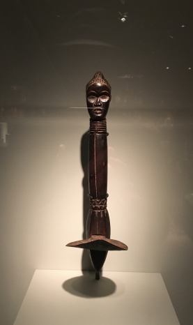 Feia Tomekpa (Dan artist), Active 1940s to early 1950s, Liberia, Ceremonial hoe, 20th century, Wood and iron