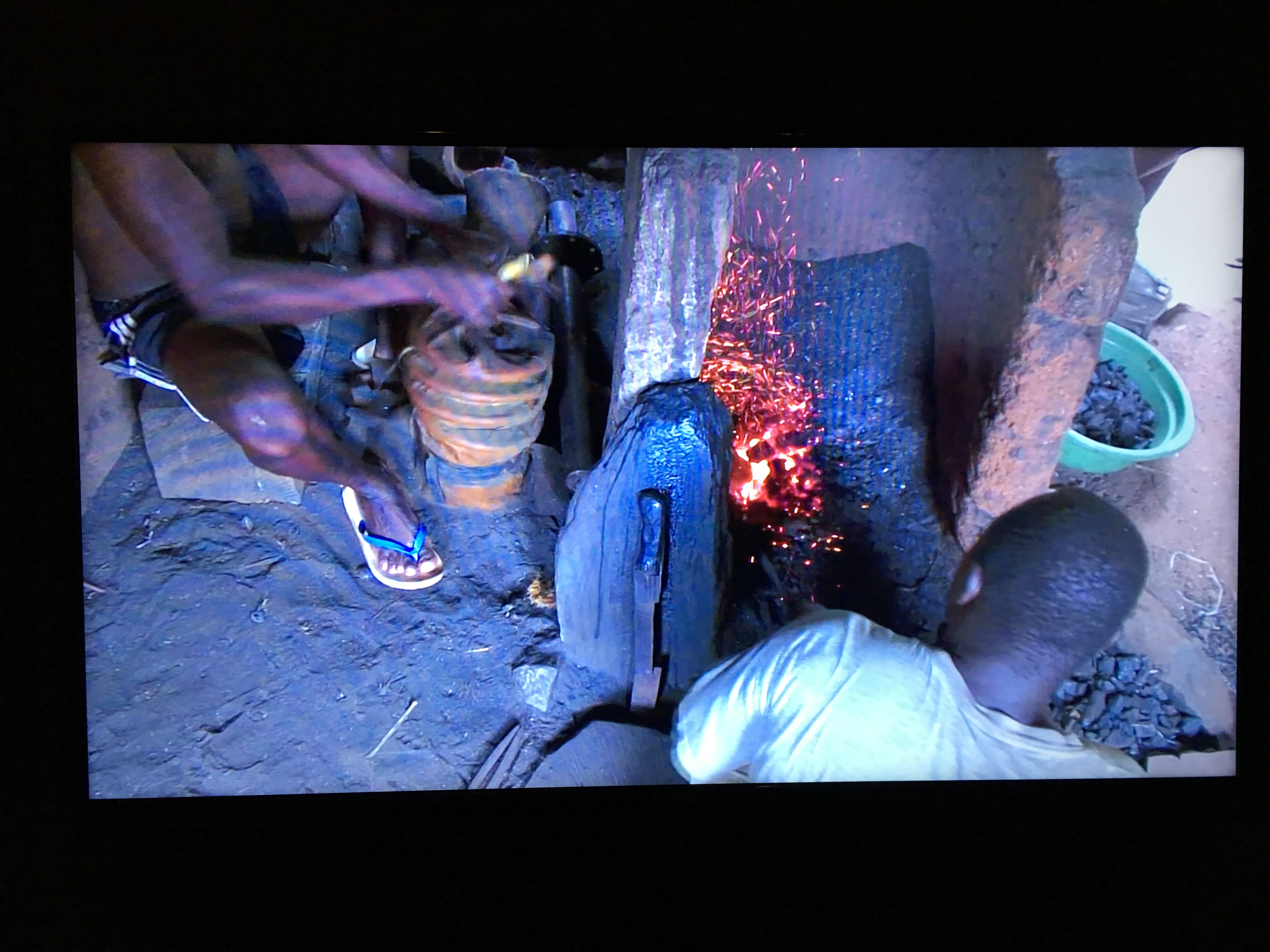 Still from Forging Video - The Blacksmith's Tools, narrated by lead curator Tom Joyce