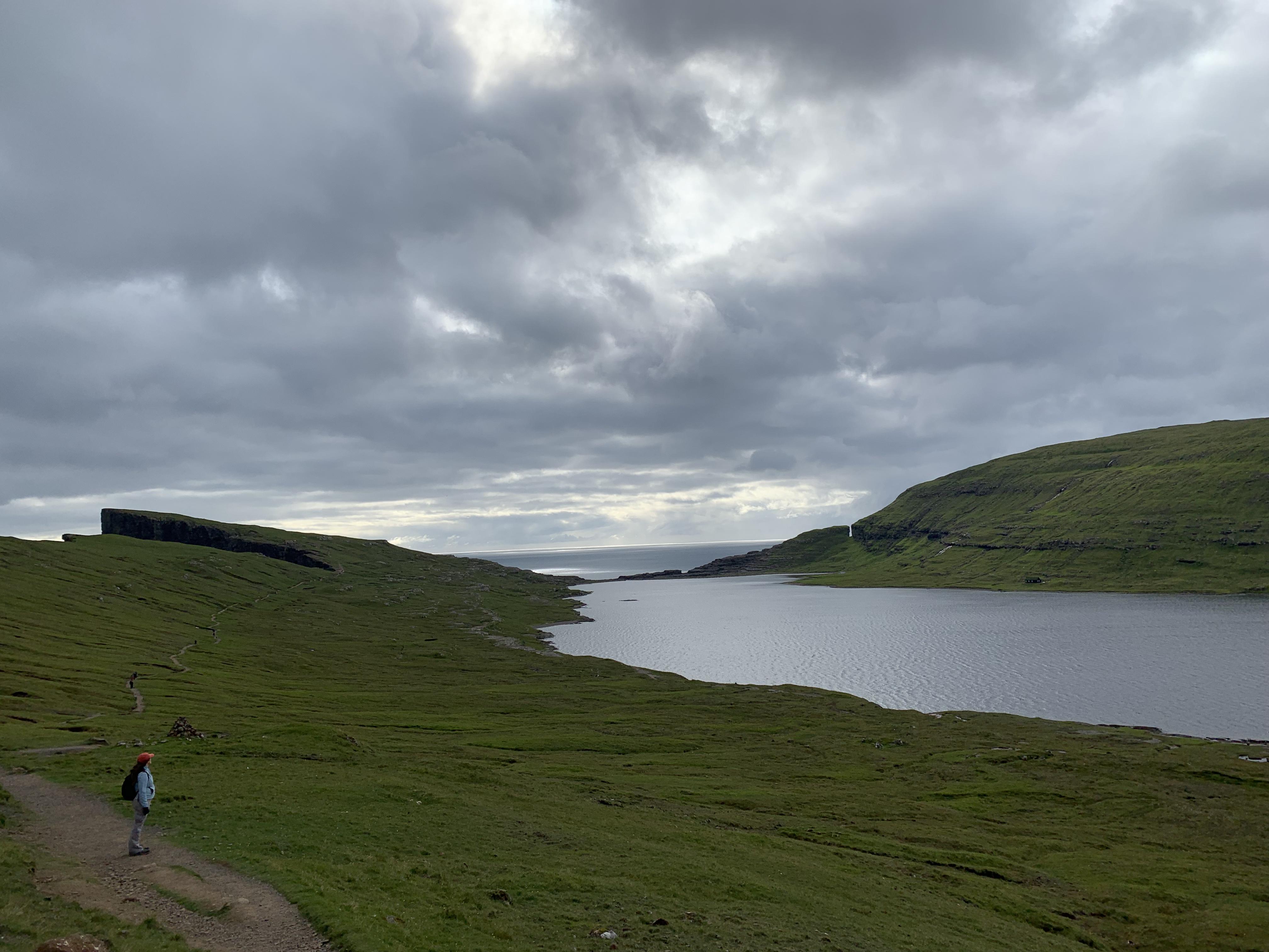 Faroe Islands Hike Miðvágur Bøsdalafossur