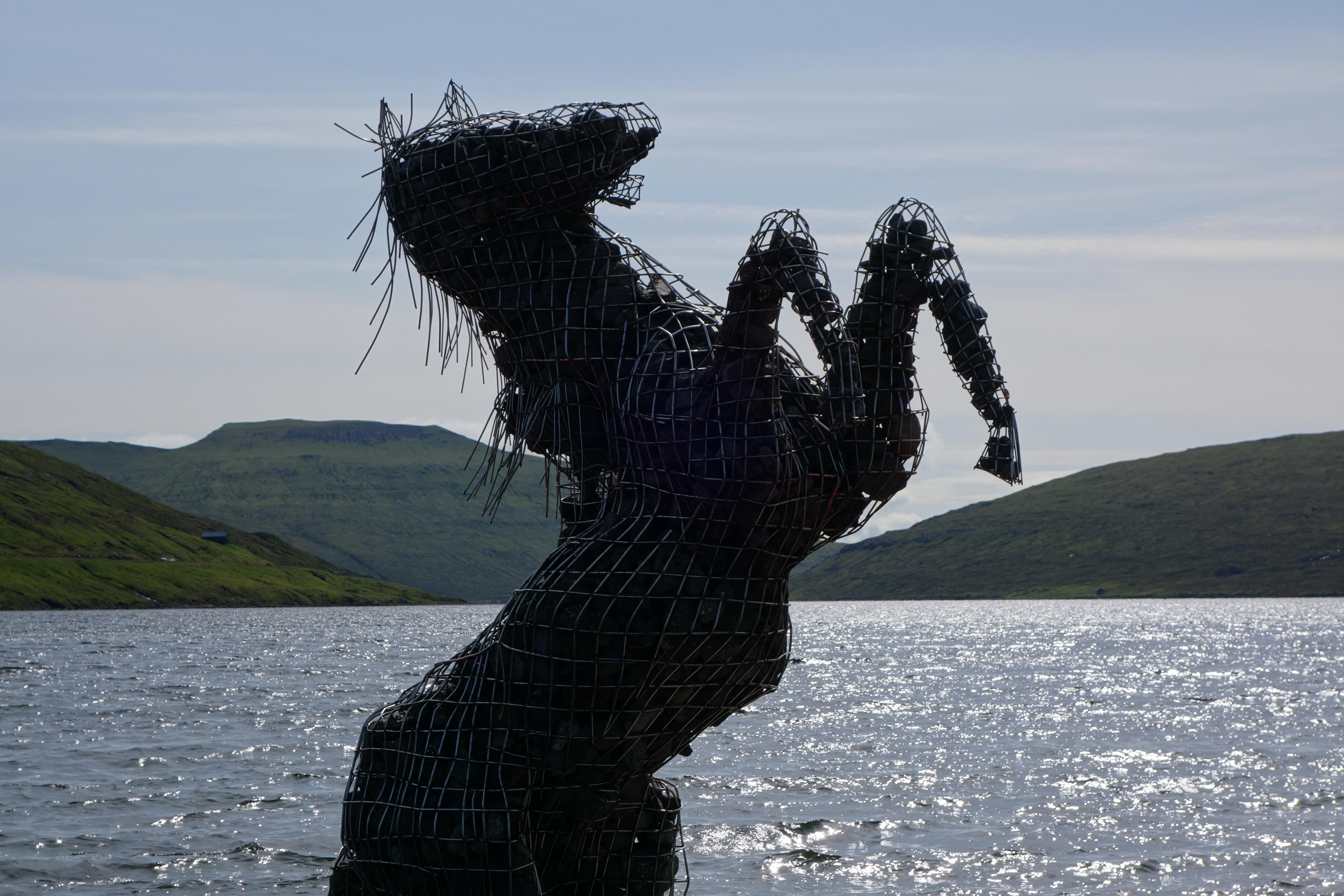 Nix Statue, Faroe Islands, Near the Airport